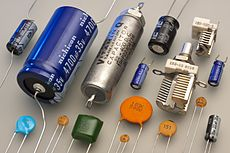 Various types of capacitors